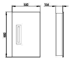 Rozměry Invisibass I s deskou