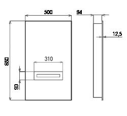 Rozměry Invisibass II s deskou